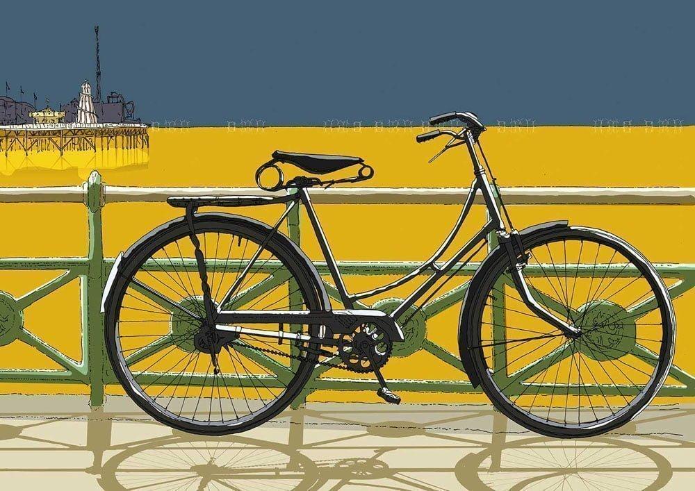 alej ez Brighton Pier and bycycle on the promenade 29.7x21