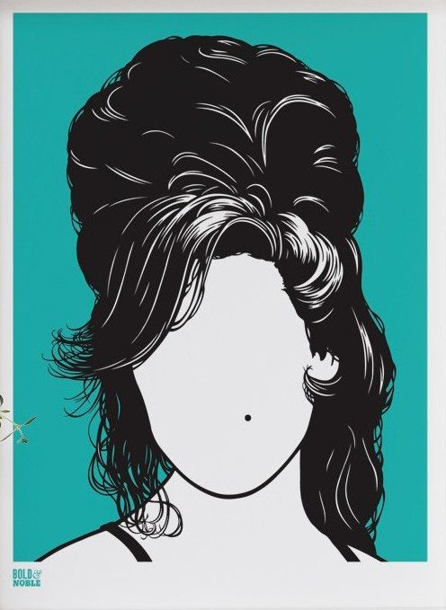Amy Winehouse screen print by Bold & Noble