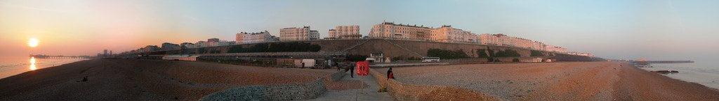 Banjo Groyne at Sunset, Brighton (PRINT) by unkown