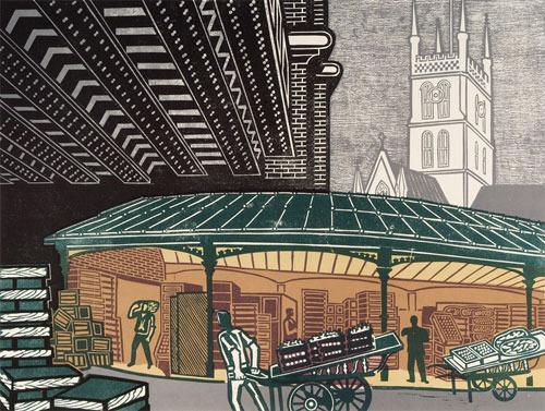 Borough Market by Edward Bawden