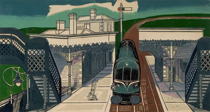 Braintree Station by Edward Bawden