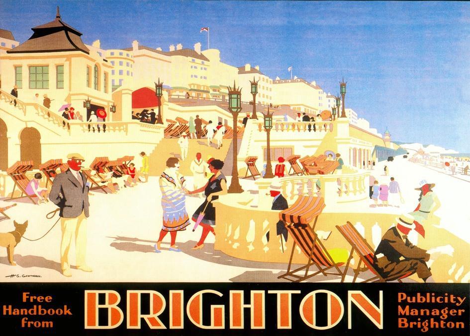 Brighton Sun Terrace Publicity Poster by unkown