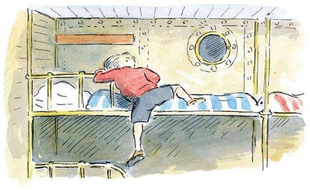 Bunk-bed at Sea (orig. untitled) by Edward Ardizzone