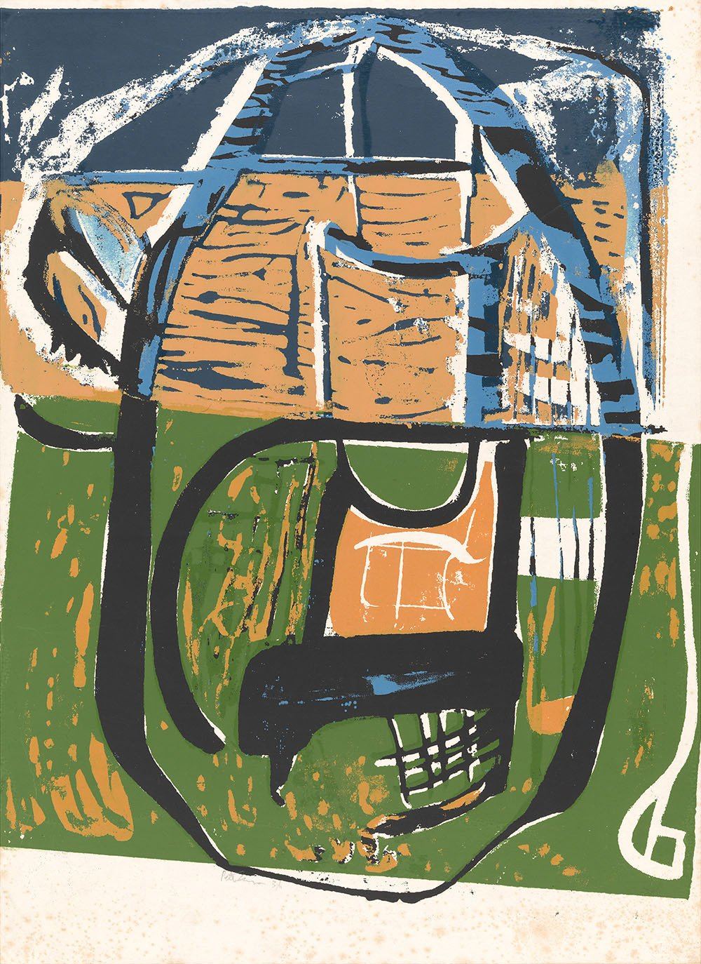 Cane Chair by Peter Lanyon