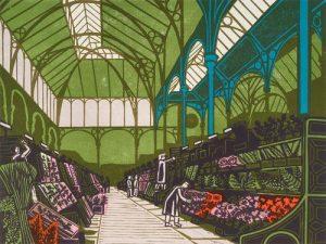 Covent Garden Flower Market by Edward Bawden