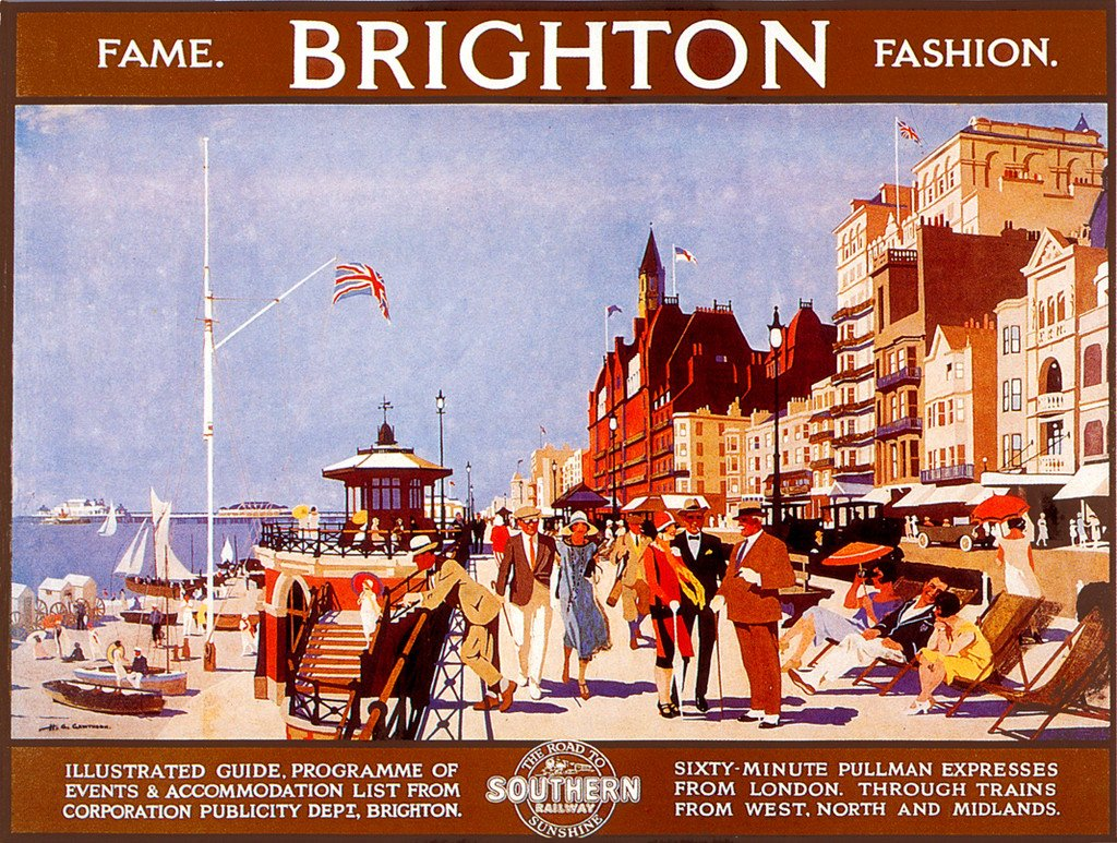 Fame and Fashion- Brighton Publicity Poster by unkown