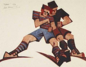 Football by Sybil Andrews