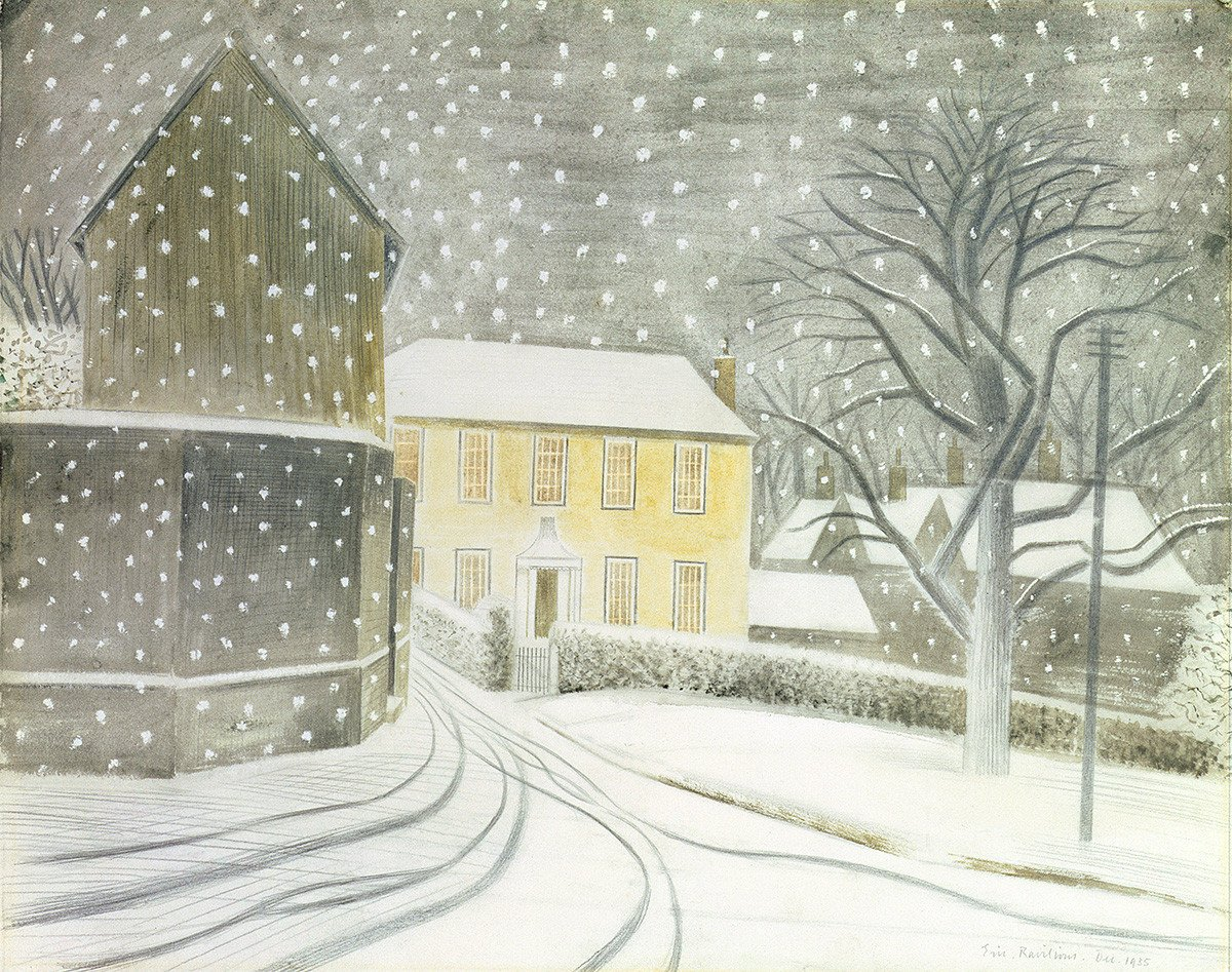 Halstead in the Snow by Eric Ravilious