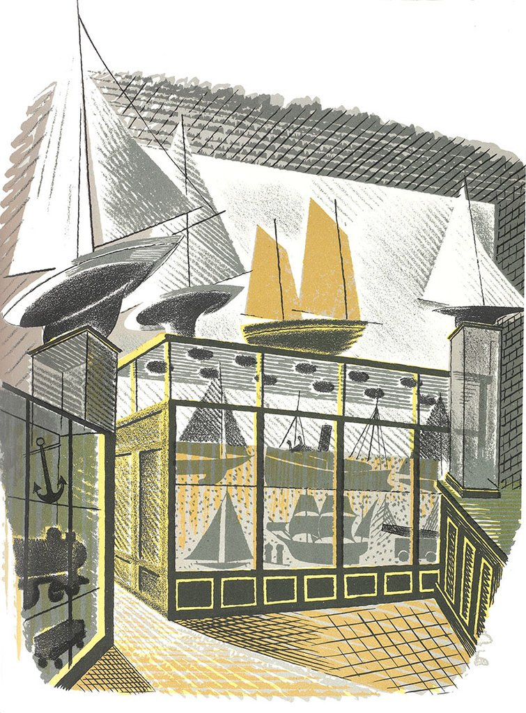 Model Ships and Railways by Eric Ravilious