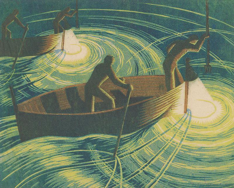 Night Fishing by Margaret Barnard