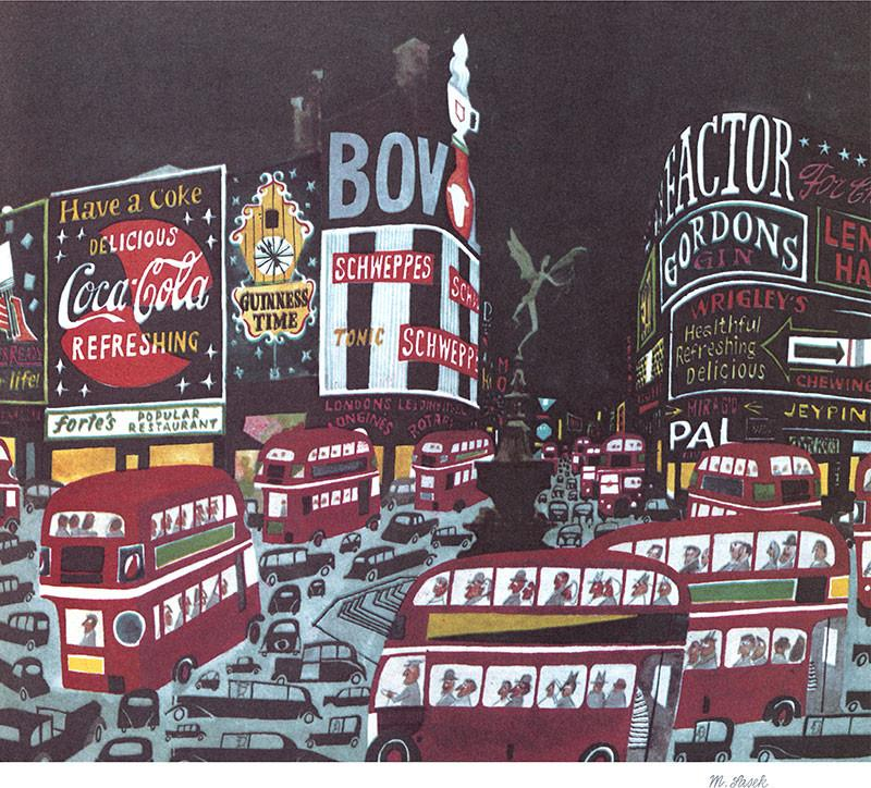 Night Lights of Piccadilly by Miroslav Sasek