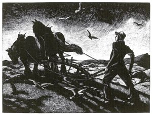November: Ploughing by Clare Leighton