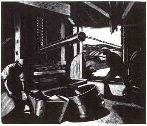 October: Cider-Making by Clare Leighton