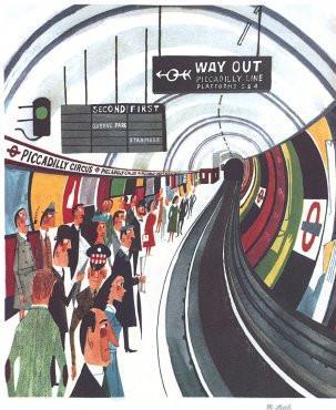 Piccadilly Circus Underground Station by Miroslav Sasek