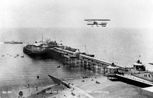 Plane over the West Pier, Brighton by unkown