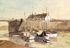 Porlock Weir by Rowland Hilder