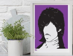 Prince screen print by Bold & Noble
