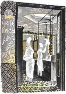 Restaurant and Grill Room by Eric Ravilious
