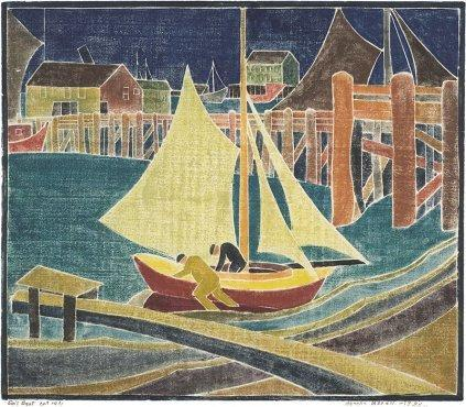 Sail Boat by Blanche Lazzell