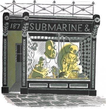 Submarine Engineer by Eric Ravilious