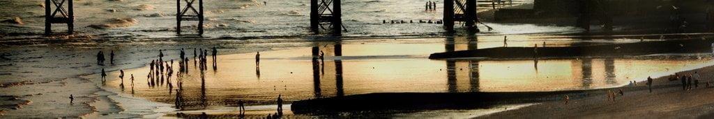 Sunset on Brighton Beach under The West Pier(CANVAS) by unkown