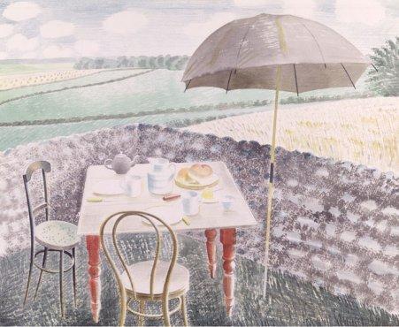 Tea at Furlongs by Eric Ravilious