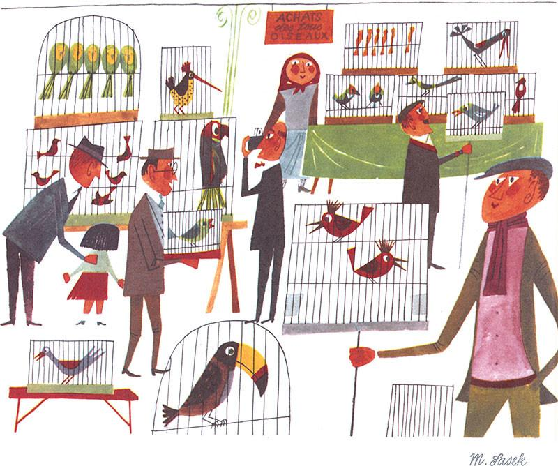 The Bird Market by Miroslav Sasek