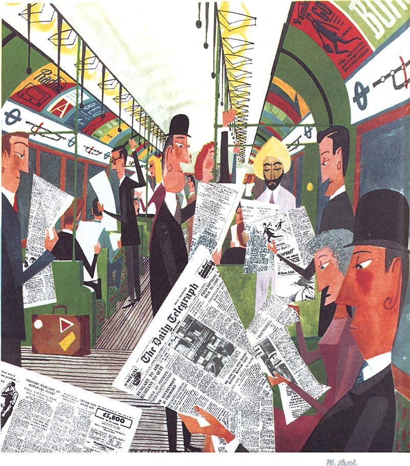 The London Underground by Miroslav Sasek