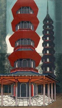 The Pagoda at Kew by Edward Bawden