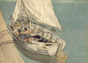 The Punt by Rowland Hilder