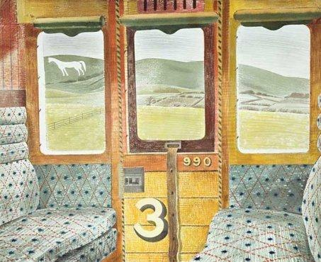 Train Landscape by Eric Ravilious