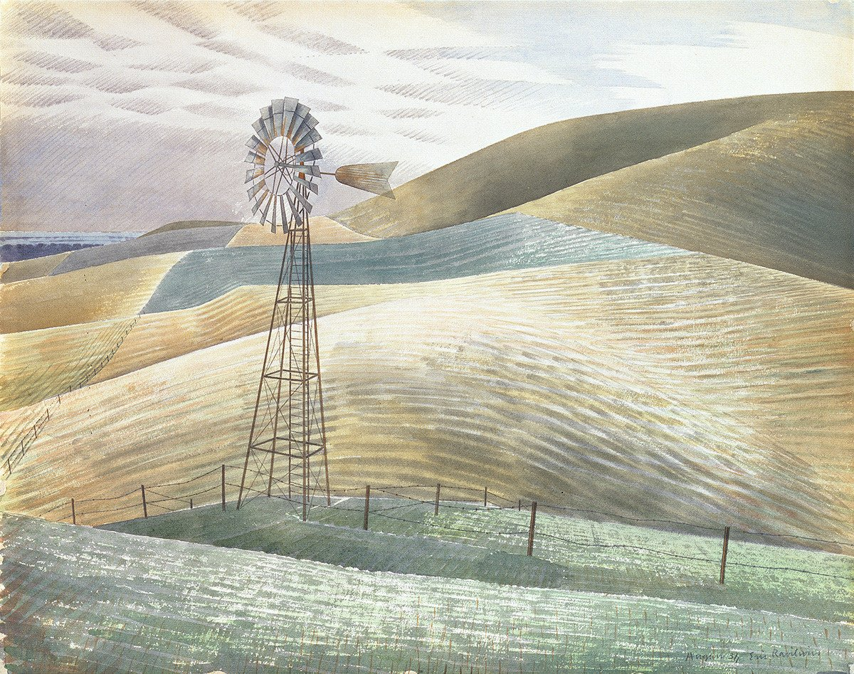 Windmill by Eric Ravilious