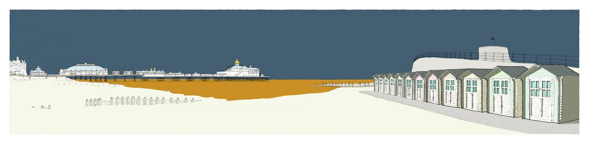 Eastbourne-Pier-and-huts-by-alej-ez