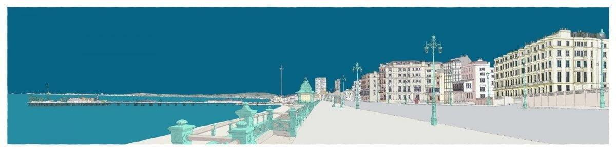 Kemptown-Brighton-Promenade-Blue-By-Alej-ez