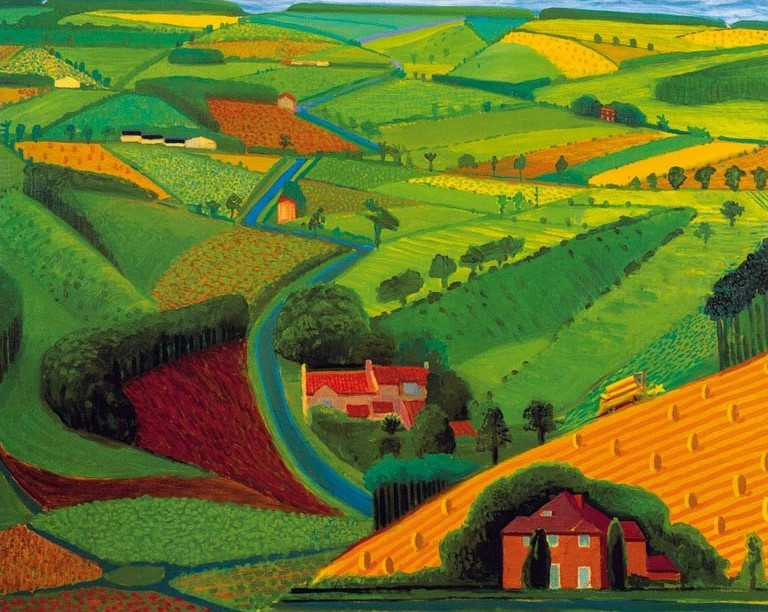 The-Road-Across-the -Wolds-by-David-Hockney