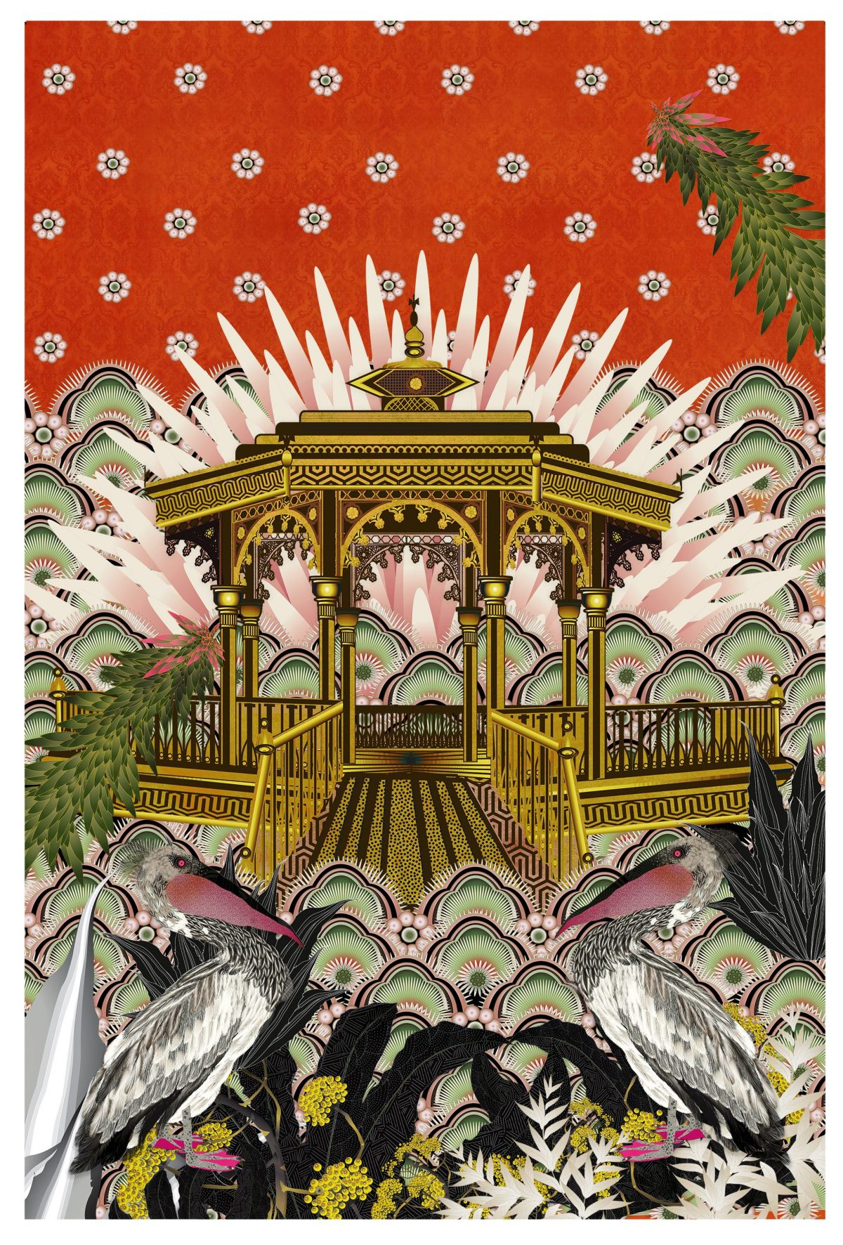 Pelicans-and-Bandstand-By-Sarah-Arnett