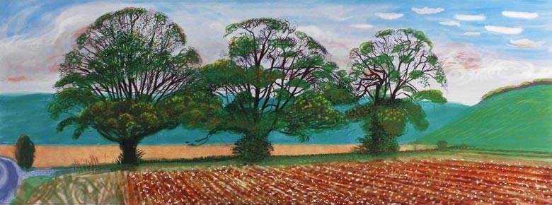 Autumn-Trees-Near-Thixendale-By-David-Hockney