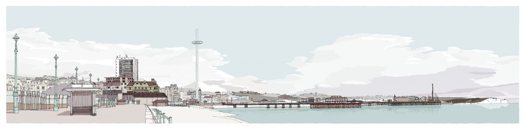 Hove-and-Brighton-promenade--Pebble-Beach-By Alej ez