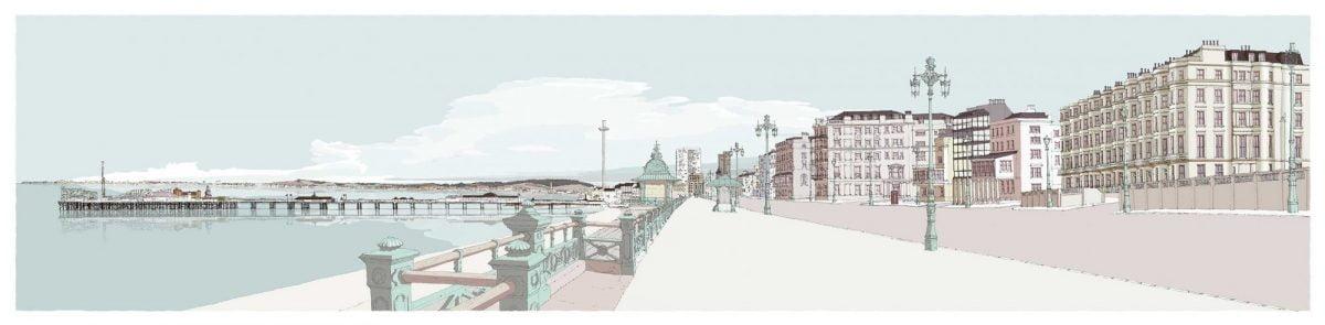 Kemptown-Brighton-Promenade-Pebble-Beach-By-Alej-ez