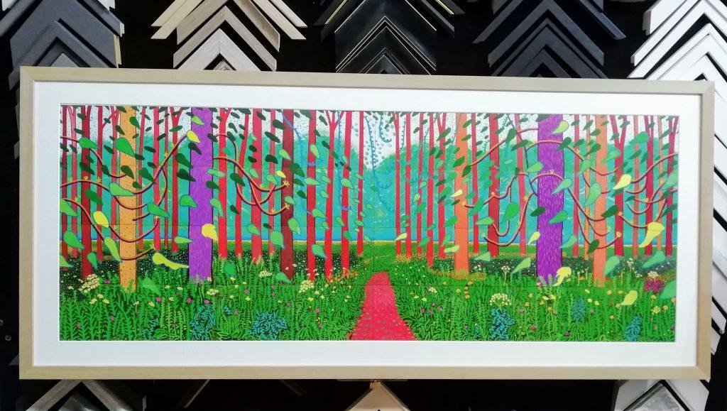 David-Hockney-Arrival-of spring-framed-in-oak