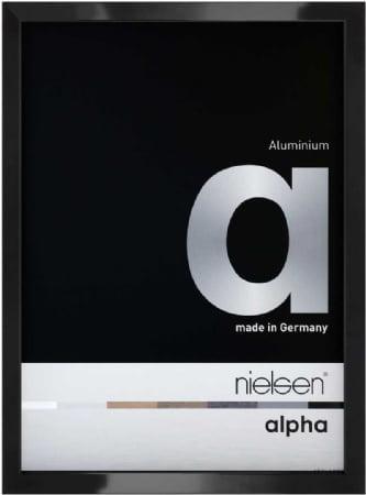 Nielson Alpha Jet Black Aluminium Frame 15x10 cm