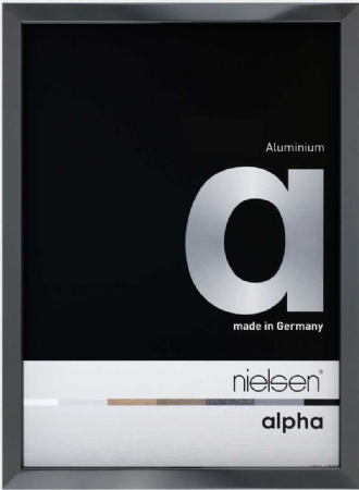 Nielson Alpha Dark Grey Aluminium Frame 15x10 cm
