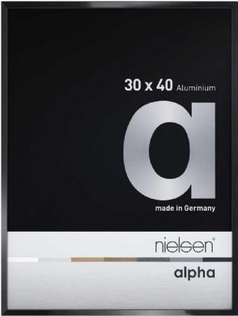 Nielson Alpha Jet Black Aluminium Frame 30x24 cm