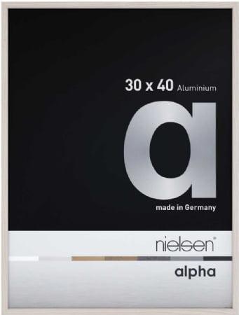 Nielson Alpha White Aluminium Frame 40x30 cm