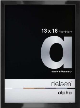 Nielson Alpha Jet Black Aluminium Frame 18x13 cm