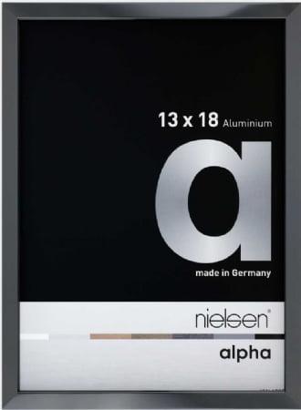 Nielson Alpha Dark Grey Aluminium Frame 18x13 cm