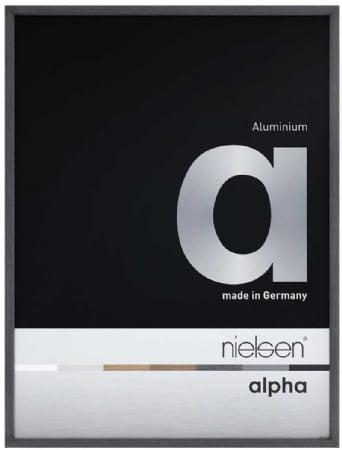 Nielson Alpha Black Oak Aluminium Frame 30x30 cm