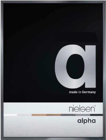 Nielson Alpha Dark Grey Aluminium Frame 24x18 cm