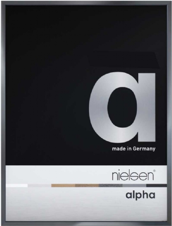 Nielson Alpha Dark Grey Aluminium Frame 50x40 cm