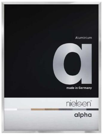 Nielson Alpha Silver Aluminium Frame 40x40 cm